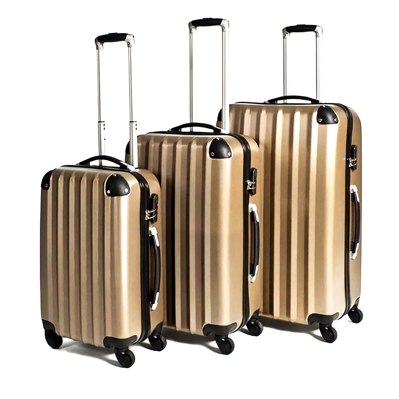 2020 Hot Selling Vertical Stripes Suitcase Green Color Suitcase