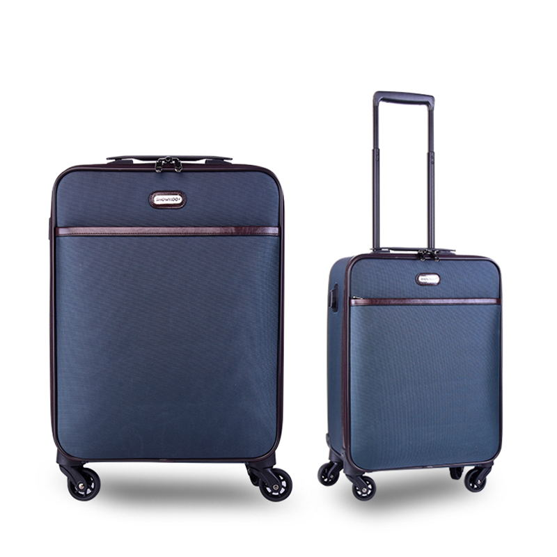 2020 Hot selling colorful spinner softside luggage bag trolley suitcase sets