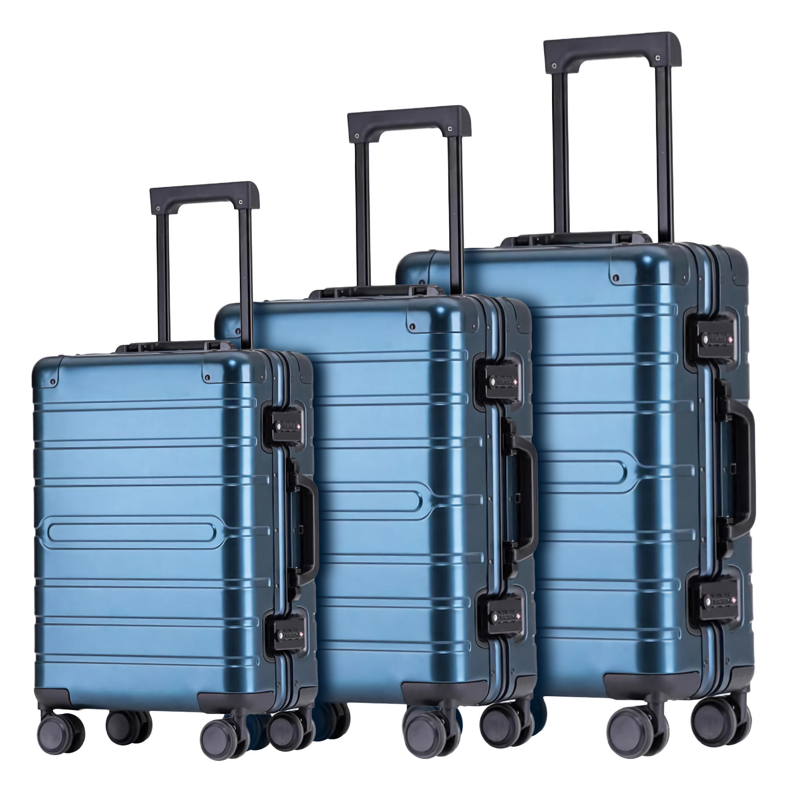 Aluminum-magnesium alloy trolley luggage-HT-8095-Greatchip