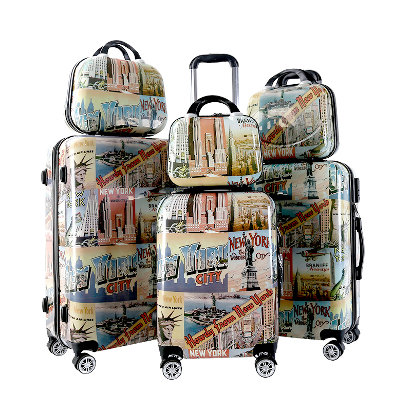 Hard shell high quality PC trolley case suitcase luggage set travel bags