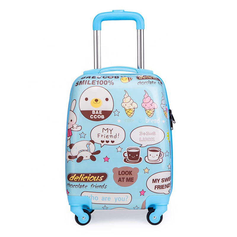 Carry on PC hardshell suitcase luggage trolley bags travel kids suitcase luggage