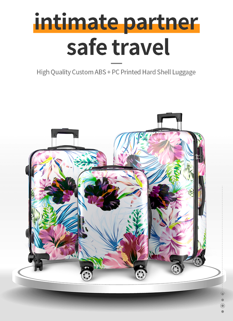High quality custom ABS+PC printed hard shell luggage-HTJP101-Greatchip