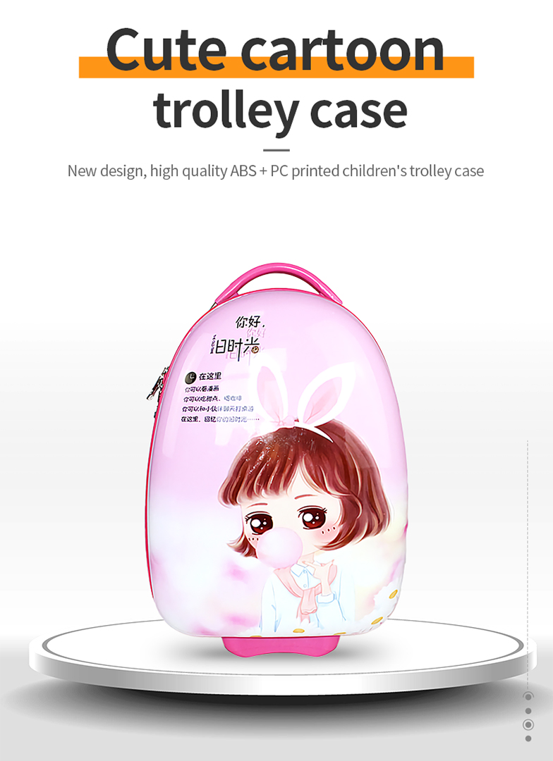 New design, high quality ABS+PC printed children's trolley case-H06J-010-Greatchip
