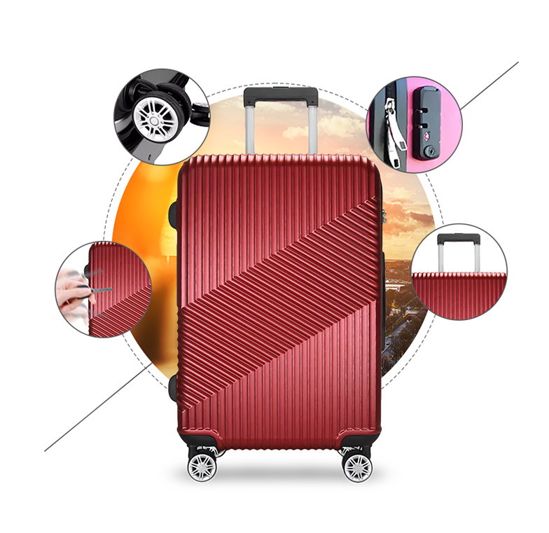 Wear-resisting / Silent caster / TSA lock / Aluminium alloy rod-HT-LB175-Greatchip