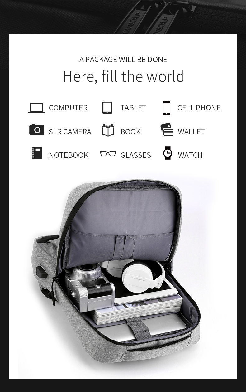 Business computer travel backpack