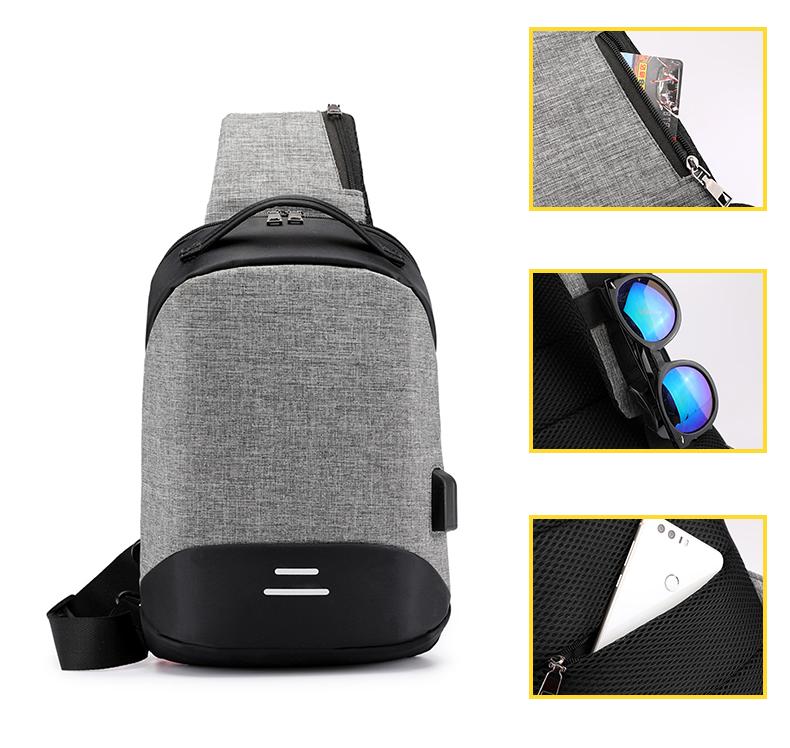 Single shoulder diagonal bag
