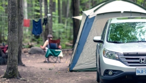 Backpack and camping essential equipment