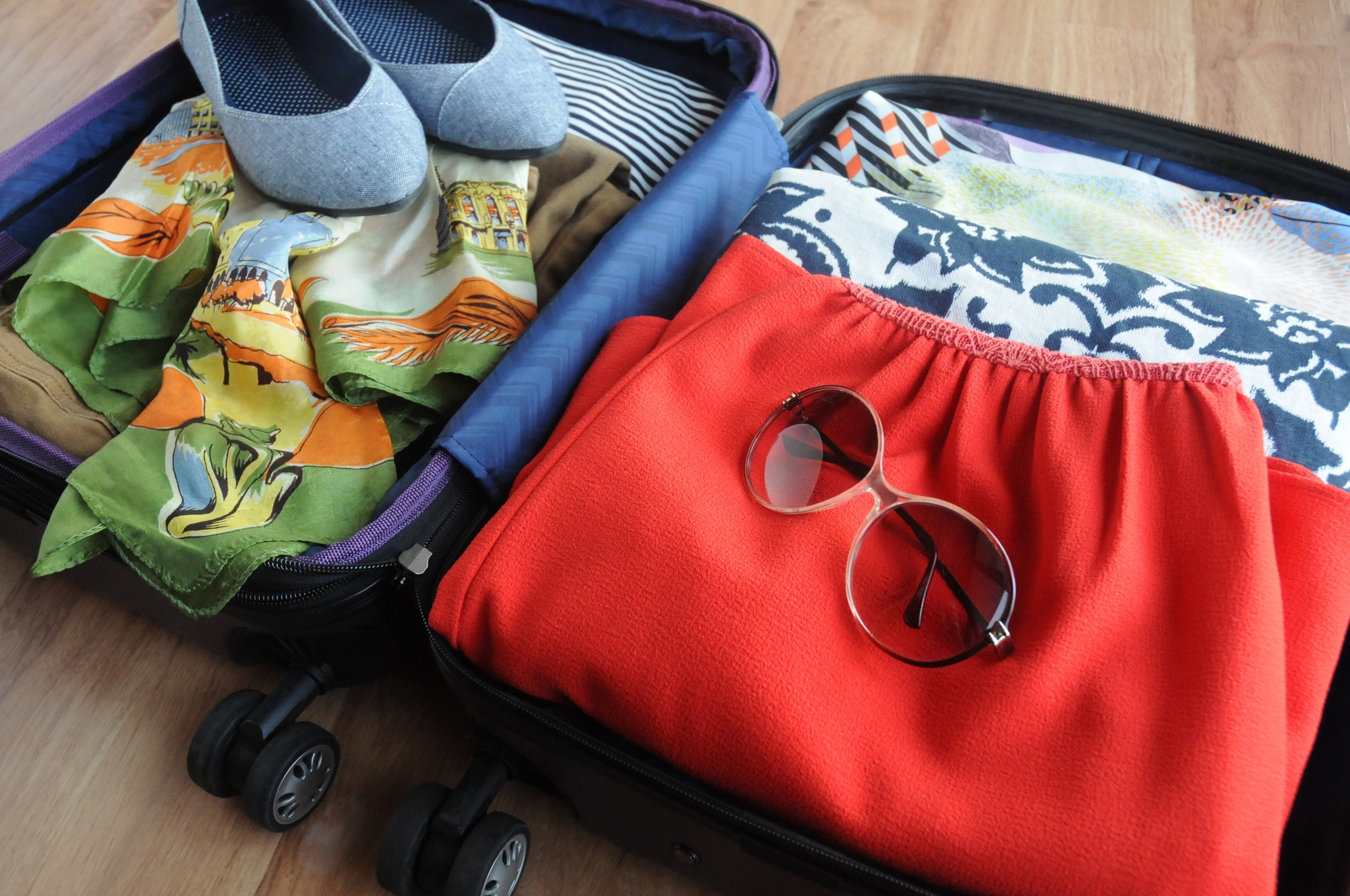 Experienced travelers will pack their luggage according to airline rules